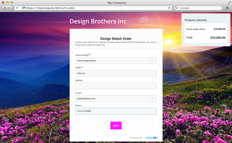 Create online forms free with Bitrix24